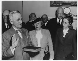 Image result for harry truman being sworn in