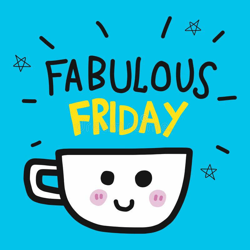 Fabulous-friday-coffee-cup-cartoon-doodle-illustration-fabulous-friday-smile-coffee-cup-cartoon-doodle-style-vector-illustration-125708369