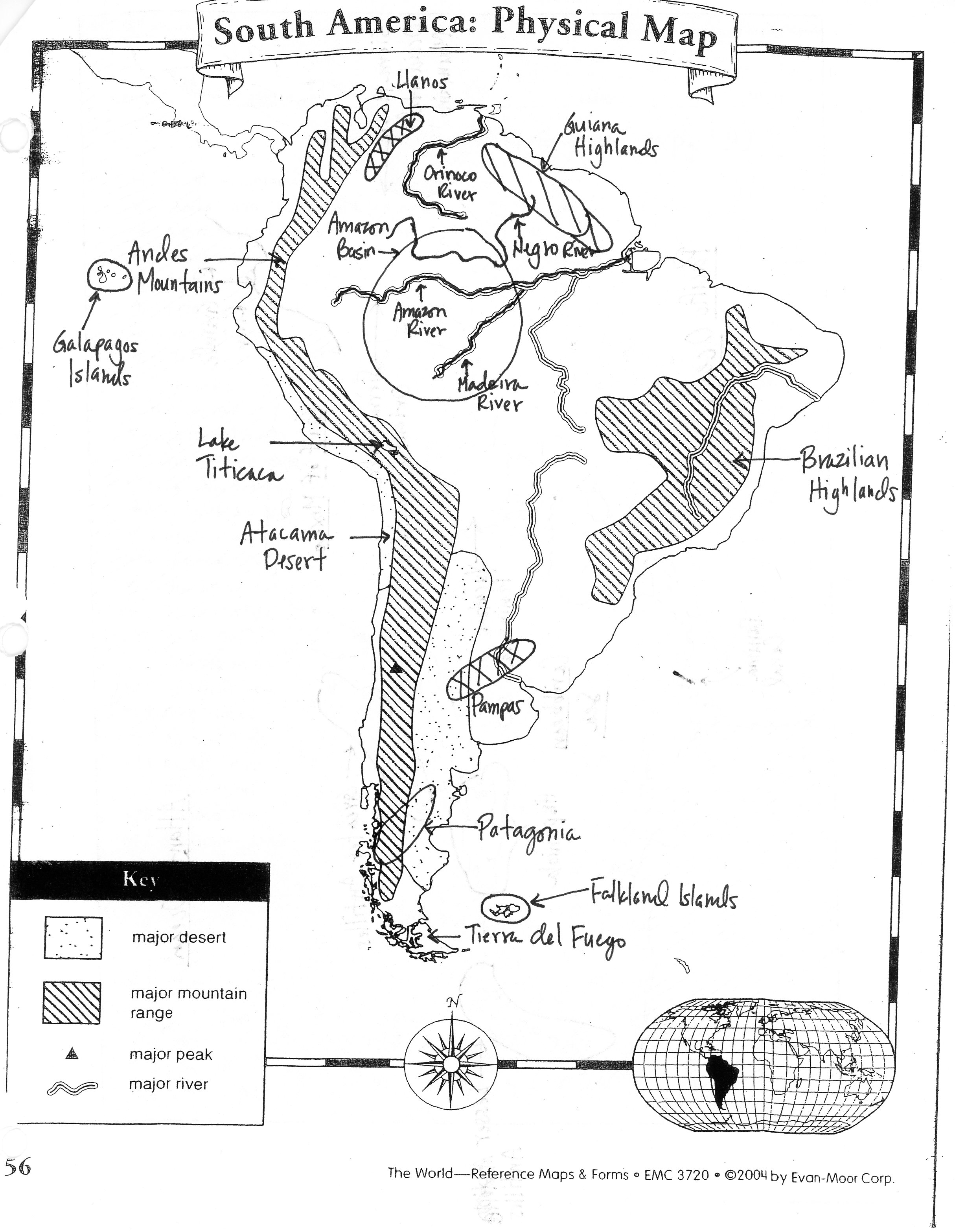 latin america outline map pdf