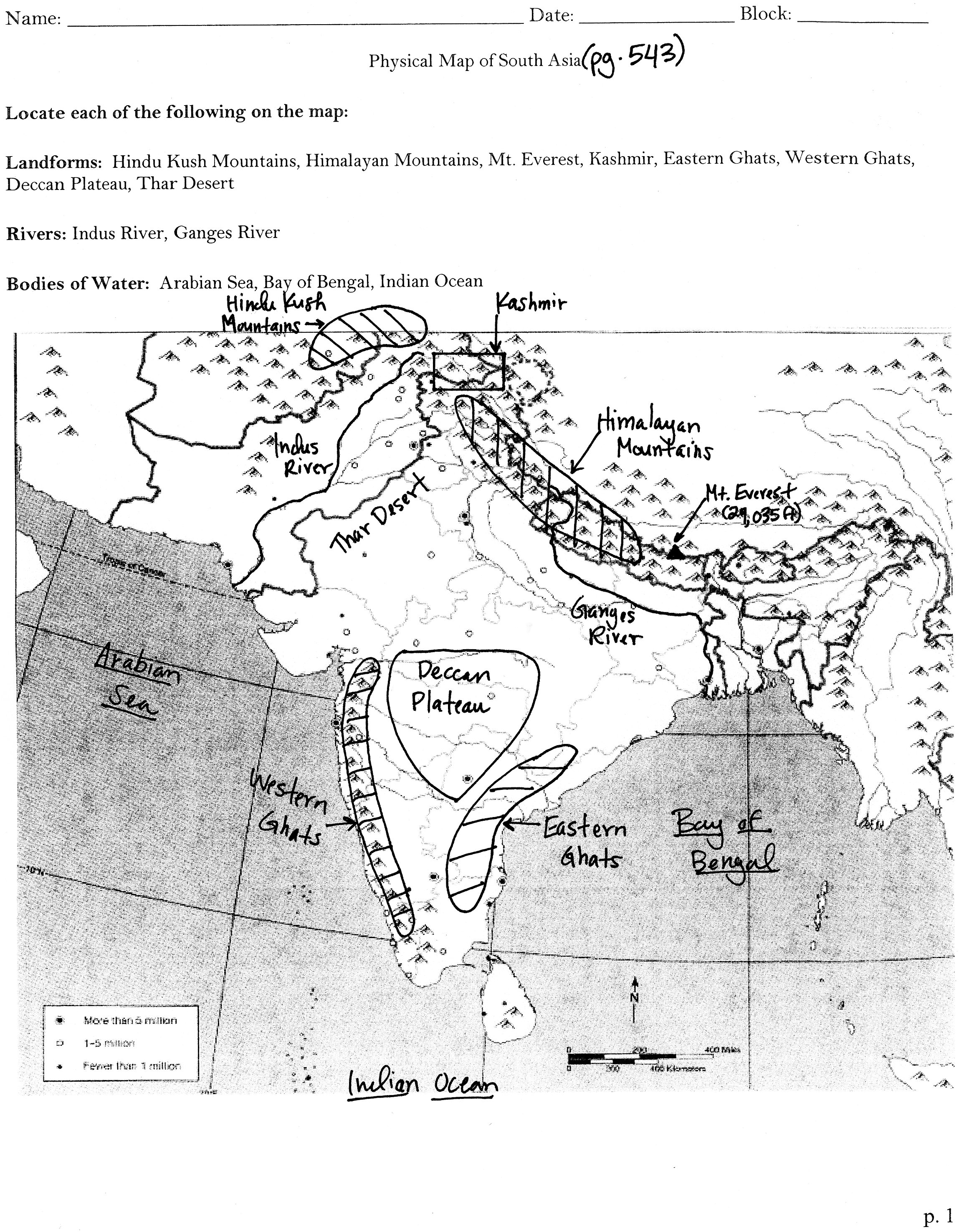 Mr hammett world geography south asia map skills b assignment 73 in your notebook gumiabroncs Gallery